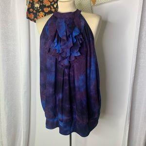 Lane Bryant tie dye ruffle blouse